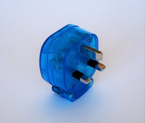MS HD Power MS328SK 'The Blue' Silver 13A UK mains plug