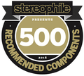 Stereophile's '500 Recommended Components, 2016' award